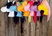 Stick Horse in My Little Pony Colors by mylue on Etsy, $12.00