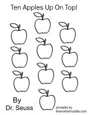 Ten-apples-up-on-top-dr-seuss-coloring-page Ten apples up on top dr seuss coloring page Cartoon