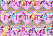 This is a My little pony birthday banner! This is a digital download that can be...