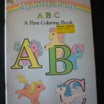 Vintage My Little Pony ABC A First Coloring Book 1986