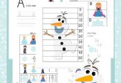 Your little FROZEN fans will love this free printable for preschool and kinderga...