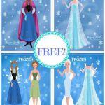 frozen free printables   FREE Disney Frozen Printable Paper Dolls, Free Stuff, F...