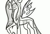 how to draw queen chrysalis, my little pony step 8  chrysalis, draw, Pony, queen...