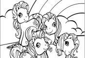kleurplaat My little pony - My Little Pony