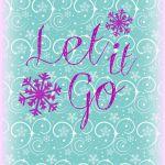 let it go Free Frozen Printable