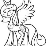 mlp printable coloring pages | How to Draw Luna, Princess Luna, My Little Pony, ...