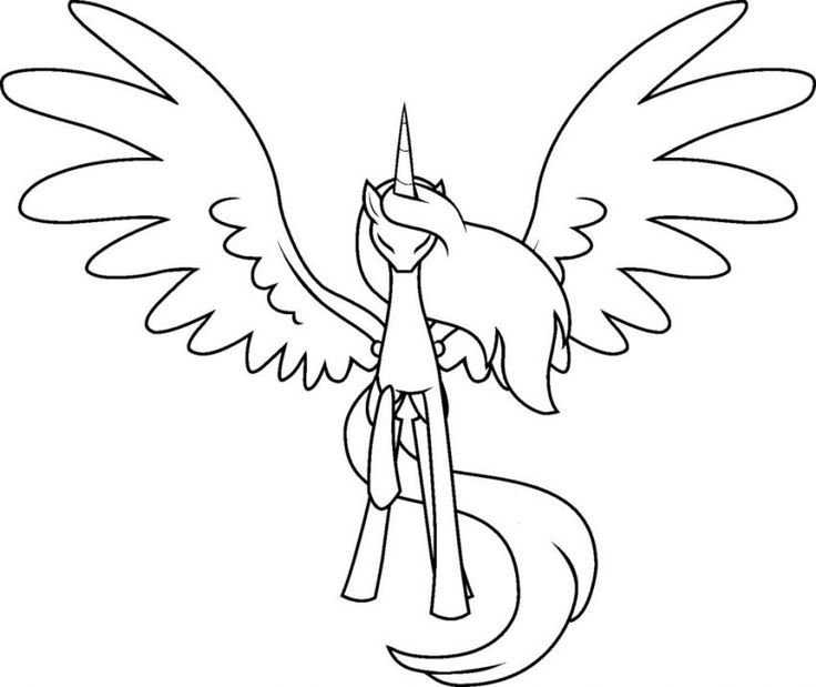 my-little-pony-coloring-pages-alicorn my little pony coloring pages alicorn Cartoon