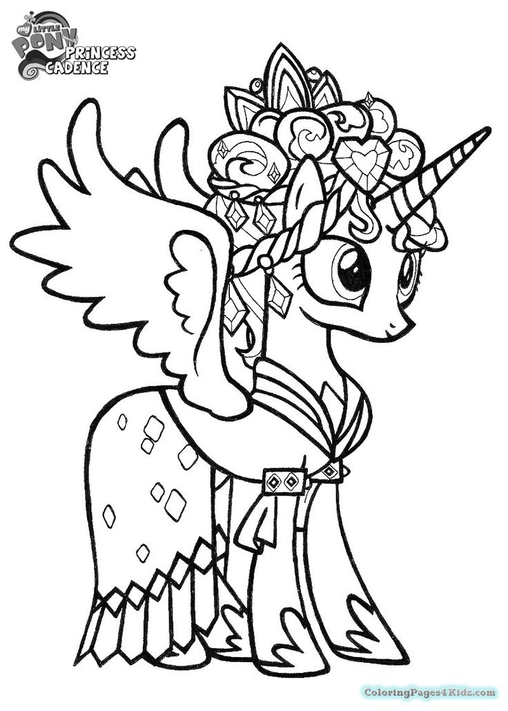 my-little-pony-coloring-pages-princess-cadence-wedding my little pony coloring pages princess cadence wedding Cartoon