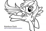 my little pony coloring pages rainbow dash |