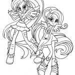 my little pony equestria girls para colorir