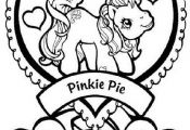 my little pony pinkie pie and heart coloring pages