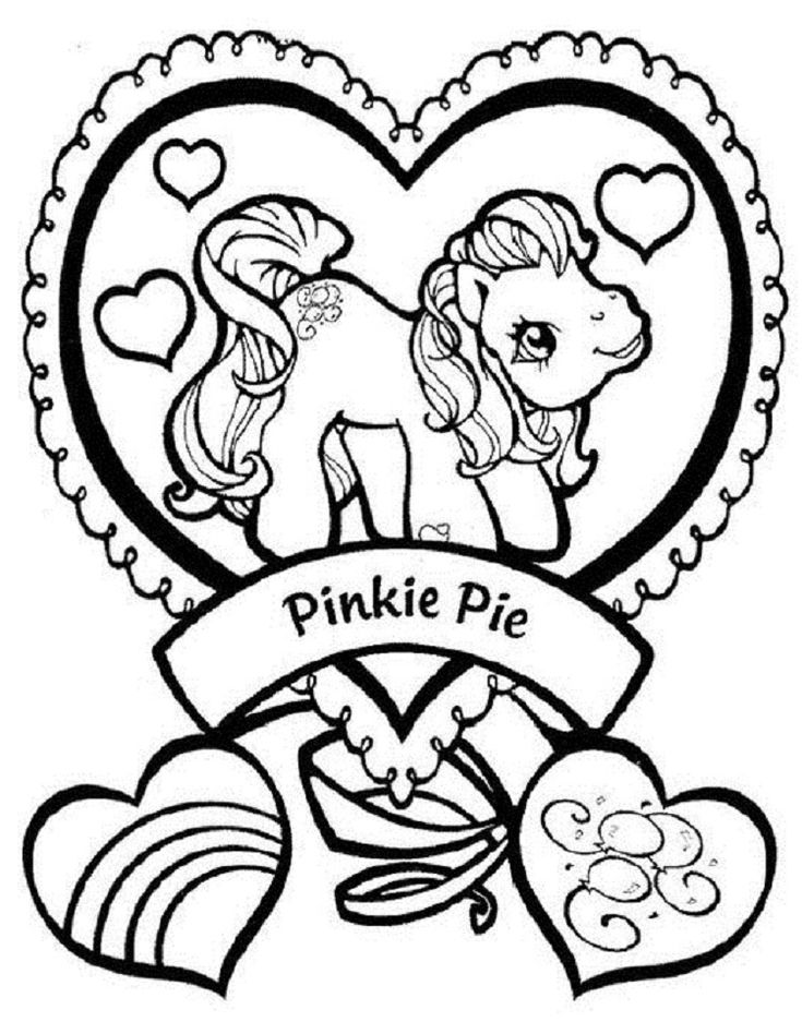 my little pony pinkie pie and heart coloring pages Wallpaper