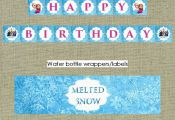 $15 Frozen Themed Printable Party Package PACKAGE INCLUDES (everything in first ...