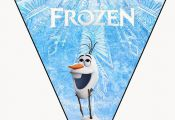 Frozen: Pretty Free Printable Bunting..