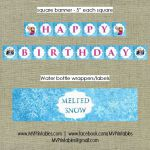 $15 Frozen Themed Printable Party Package  PACKAGE INCLUDES (everything in first...