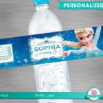 FROZEN Water Bottle Label, Frozen Party Package,  Frozen Printable Label, Frozen...