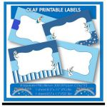 30% OFF SALE Instant Download, Olaf Frozen Printable Labels or Buffet Cards. Per...