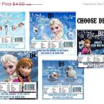 30% off sale Digital frozen Printable Birthday party hershey can bar wrapper