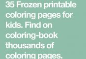 35 Frozen printable coloring pages for kids. Find on coloring-book thousands of ...