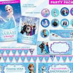 50% OFF SALE Frozen Invitation and Thank You Card Birthday Party Package ,Printa...