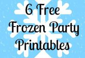6 Free Frozen Party Printables