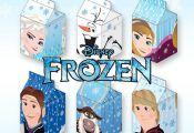 6 Frozen Disney Printable Milk Box Template Favor Box by Nedti, $7.00