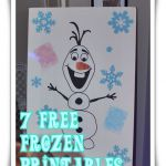 7 Free Frozen Printables