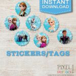 "7 Frozen 2.5"" STICKERS / TAGS, Disney Frozen, Stickers, Frozen Confetti, Frozen ..."