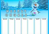 A FREE Frozen Printable Chore Chart Template to keep track of weekly chores. Dow...