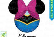 Anna Mickey Head Disney Frozen Printable Iron On Transfer or Use as Clip Art - D...