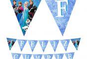 Banderin Cumpleaños de Frozen. Se hacen personalizados con tu nombre! #frozen #...