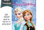 Birthday sign - Frozen printables - 8x10 printables - DIY - digital file