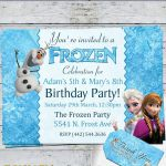 Boy And Girl Disney Frozen Birthday Party by RoyaltyInvitations, $6.25