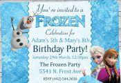 Boy And Girl Disney Frozen Birthday Party by RoyaltyInvitations, $6.25