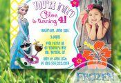 CUSTOM FROZEN PRINTABLE INVITE Olaf & Elsa summer photo invitation by SplendidIN...