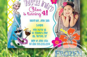 CUSTOM FROZEN PRINTABLE INVITE Olaf & Elsa summer photo invitation by SplendidIN...