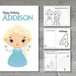 Custom Frozen Inspired Activity Book | Birthday Activity Book | Birthday Activit...
