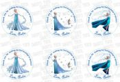 Custom Frozen Printable Tags-Toppers Elsa Frozen Personalized Tags, DIY (You Pri...
