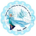 Custom Frozen Printable Tags-Toppers Elsa Frozen by StudioIdea