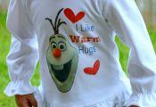DIY Frozen Olaf Shirt via PinkWhen.com