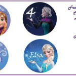 DIY Frozen Printable Cupcake toppers by ARRTZY on Etsy, $4.00