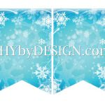 DIY Printable Frozen Banner & Your Own Letters from SHYbyDESIGN.com