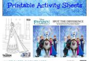 Disney FROZEN Printable Activity Sheets - Fun Spot the Different Game, Coloring ...