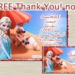 Disney FROZEN invitation frozen birthday invitation by UNIQcards, $5.90