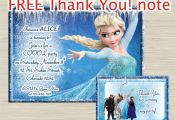 Disney FROZEN invitation, frozen birthday invitation, frozen invitation - THANK ...
