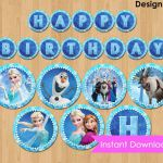 Disney Frozen Banner INSTANT DOWNLOAD - Frozen Banner Printable - Happy Birthday...