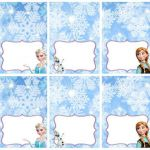 Disney Frozen Food Labels Placecards Tent Cards Favor Tags - INSTANT DOWNLOAD