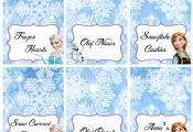 Disney Frozen Food Labels Placecards Tent Cards by LittleBugShoppe, $8.00