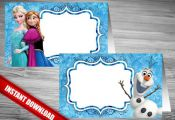 Disney Frozen Food Tent - INSTANT DOWNLOAD - Get 4 DESIGNS