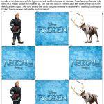 Disney Frozen Memory Cards printable